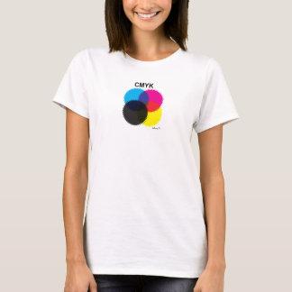CMYKのワイシャツ Tシャツ