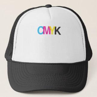 CMYKの写実的なイラストレーターのデザイン キャップ