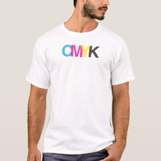CMYKの写実的なイラストレーターのデザイン Tシャツ