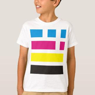 CMYKの旗のタイ Tシャツ