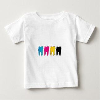 CMYKの歯 ベビーTシャツ