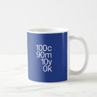 CMYKの青 コーヒーマグカップ