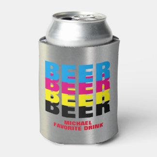 CMYK色のビール、彼のお気に入りのな飲み物 缶クーラー