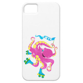 CMYK -ローラースケートのタコ iPhone SE/5/5s ケース