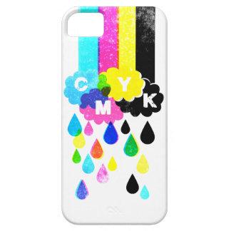 CMYK -虹および雨滴 iPhone SE/5/5s ケース