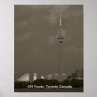 CNタワー、トロントカナダ ポスター