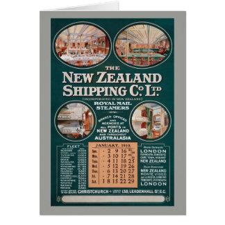Co.のヴィンテージポスターを出荷するニュージーランド カード