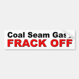 Coaの継ぎ目のガス。 FRACK。 抗議 バンパーステッカー