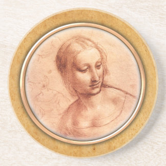 Coasteを引くレオナルド・ダ・ヴィンチの   女性 コースター