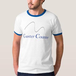 CoasterCounter.comのSquiggleのTシャツ Tシャツ