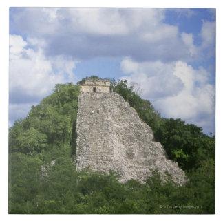 Cobaのユカタン半島、メキシコのマヤの台なし タイル