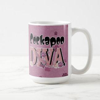 Cockapooの花型女性歌手 コーヒーマグカップ