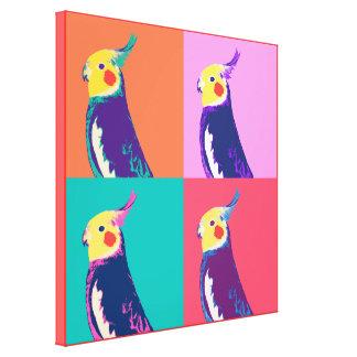 Cockatielのポップアート キャンバスプリント