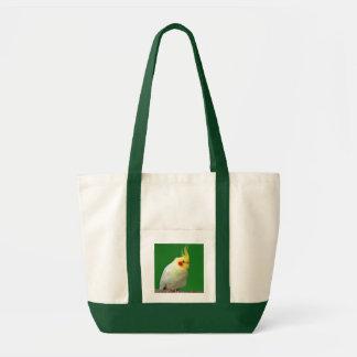 Cockatielの鳥の美しい写真のショッピングのトートバック トートバッグ