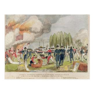 Cockburn海軍大将の焼却および略奪 はがき