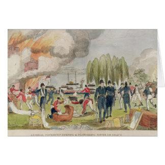 Cockburn海軍大将の焼却および略奪 グリーティングカード