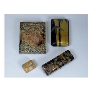 cockerelと飾られる文房具入れ ポストカード