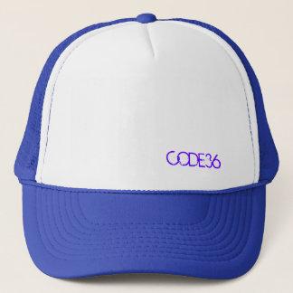 CODE36の紫色か白い帽子 キャップ