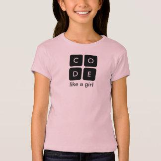 """Code.orgは""""コード女の子""""の子供のTシャツ好みます Tシャツ"""