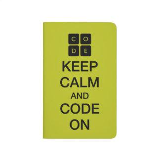 """Code.orgは""""保ちます平静そしてコードをの"""" ポケットジャーナル"""