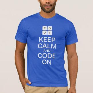 """Code.orgはTシャツ""""の""""平静そしてコードを保ちます Tシャツ"""