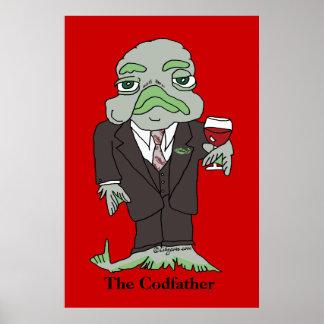 Codfatherポスタープリントの魚 ポスター