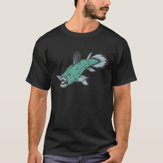 Coelacanthの怒っている魚 Tシャツ