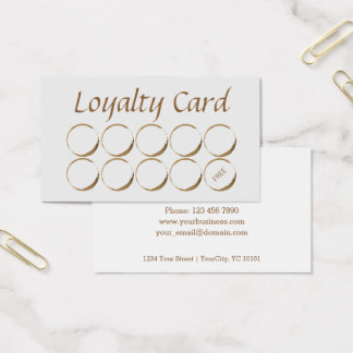 Coffee Shop Loyalty Card - coffee stain 名刺