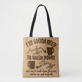 Coffeeholicsの匿名のコーヒー常習のタイポグラフィ トートバッグ