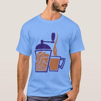 coffegrinderのコーヒー豆挽器のワイシャツのTシャツ Tシャツ
