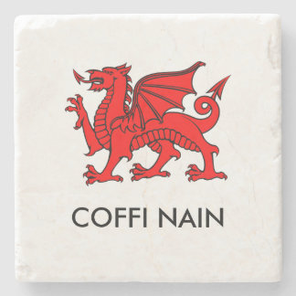 Coffi Nain -祖母のコーヒー北のウェールズのコースター ストーンコースター