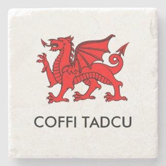 Coffi Tadcu -祖父のコーヒー南ウェールズのコースター ストーンコースター