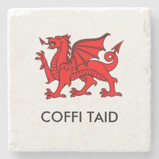 Coffi Taid -祖父のコーヒー北のウェールズのコースター ストーンコースター
