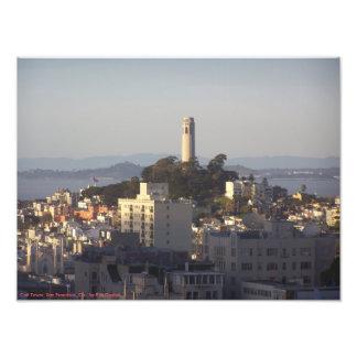 Coitタワー-サンフランシスコ、カリフォルニア- P.M.Dudiakによる… フォトプリント