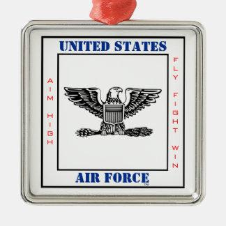 COL O-5空軍大佐のスローガン メタルオーナメント