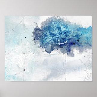 Colbaltの抽象的な青1 ポスター