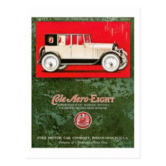 Coleの航空機8のヴィンテージ車の広告 ポストカード