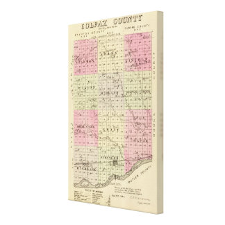 Colfax郡、ネブラスカ キャンバスプリント
