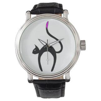 Colita Rosita -ピンクの尾先端猫 腕時計