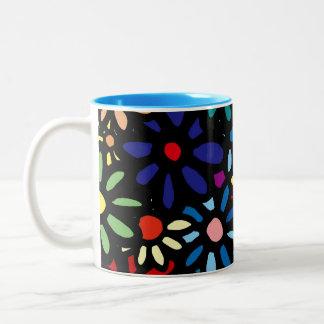 Coloful Flower Mug-Cup ツートーンマグカップ