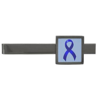 Colon Cancer Blue Ribbon ガンメタル ネクタイピン