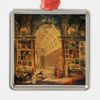 Colonnaのギャラリーの内部の眺め、ローマ(油 メタルオーナメント