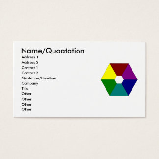 color_wheel、名前またはQuoatationの住所1の住所… 名刺
