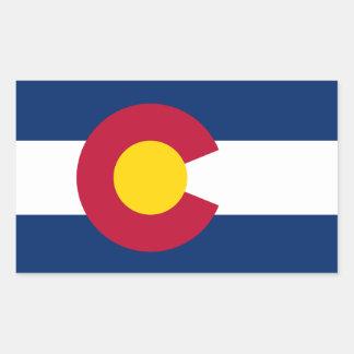 Colorado*の旗のステッカー 長方形シール