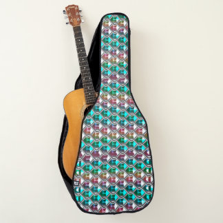 Colorful Abstract Jewels Pattern Guitar Case ギターケース
