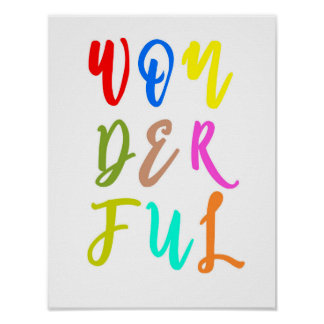 Colorful Baby Nursery Wall Art Print Poster ポスター