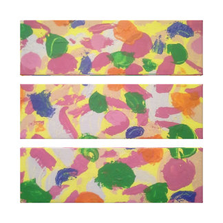 Colorful Brushstrokes Abstract Art Canvas Print キャンバスプリント