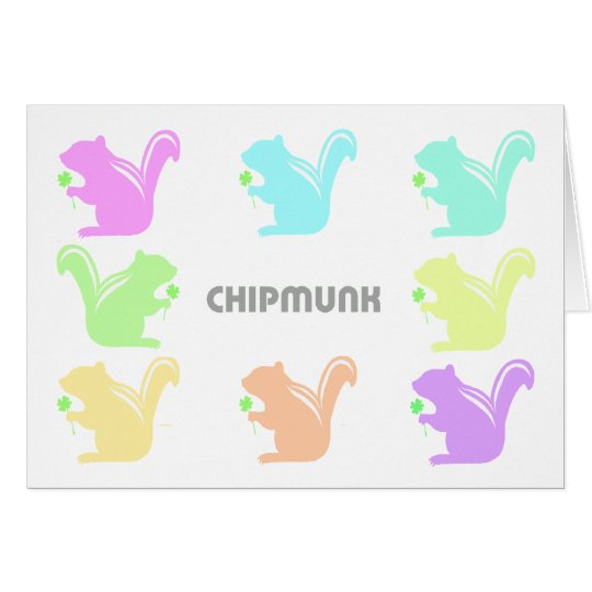 colorful chipmunks カード