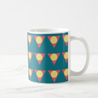 Colorful geometric design mug コーヒーマグカップ