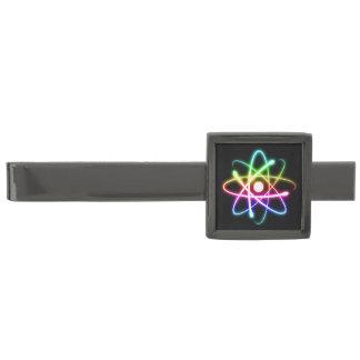 Colorful Glowing Atom ガンメタルネクタイピン